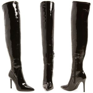 JESSICA SIMPSON PATENT KNEE HIGH BOOTS SIZE 5.5